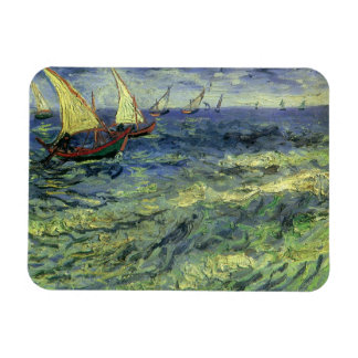 Seascape at Saintes Maries by Vincent van Gogh Flexible Magnets