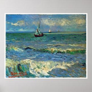 Seascape at Saintes-Maries-de-la-Mer Poster