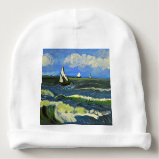 Seascape at Saintes-Maries, Van Gogh Baby Beanie