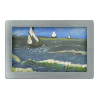 Seascape at Saintes-Maries, Van Gogh Belt Buckle