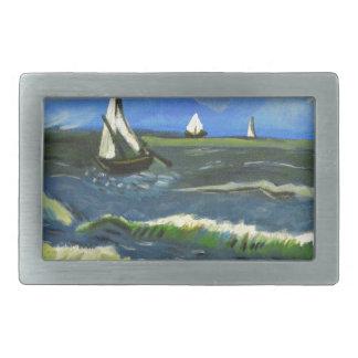 Seascape at Saintes-Maries, Van Gogh Belt Buckle