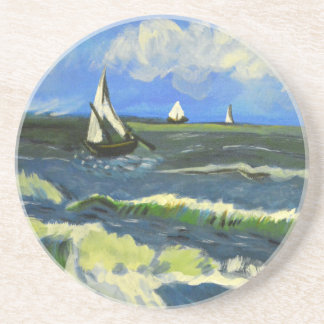 Seascape at Saintes-Maries, Van Gogh Coaster