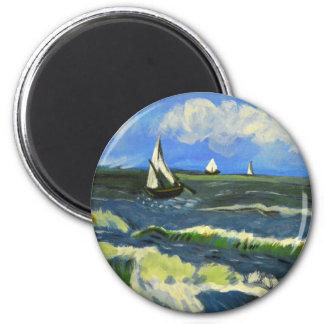 Seascape at Saintes-Maries, Van Gogh Magnet