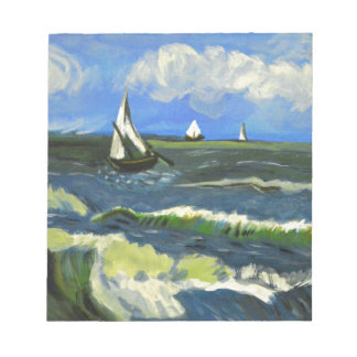 Seascape at Saintes-Maries, Van Gogh Notepad
