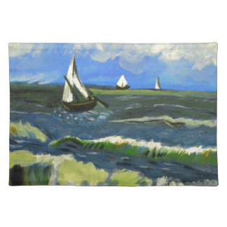 Seascape at Saintes-Maries, Van Gogh Placemat