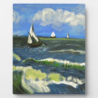 Seascape at Saintes-Maries, Van Gogh Plaque