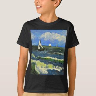 Seascape at Saintes-Maries, Van Gogh T-Shirt