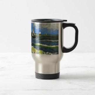 Seascape at Saintes-Maries, Van Gogh Travel Mug