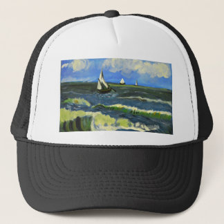 Seascape at Saintes-Maries, Van Gogh Trucker Hat