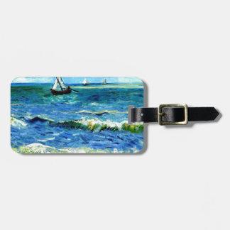 Seascape at Saintes-Maries, Vincent Van Gogh Bag Tag