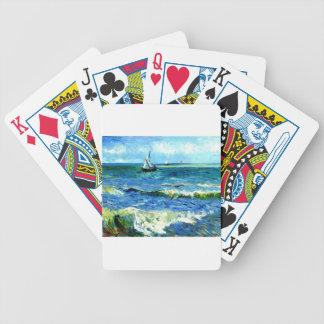 Seascape at Saintes-Maries, Vincent Van Gogh Bicycle Playing Cards