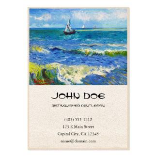Seascape at Saintes-Maries Vincent Van Gogh Business Card
