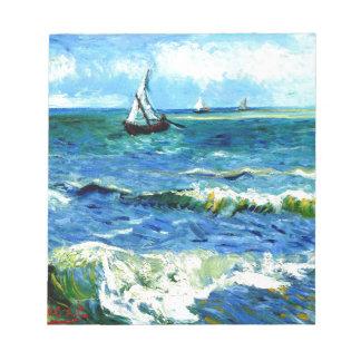 Seascape at Saintes-Maries, Vincent Van Gogh Notepad