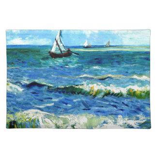 Seascape at Saintes-Maries, Vincent Van Gogh Placemat