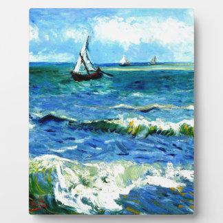 Seascape at Saintes-Maries, Vincent Van Gogh Plaque