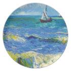 Seascape at Saintes-Maries Vincent Van Gogh Plate
