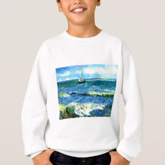 Seascape at Saintes-Maries, Vincent Van Gogh Sweatshirt