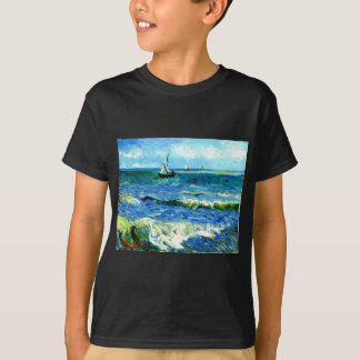 Seascape at Saintes-Maries, Vincent Van Gogh T-Shirt