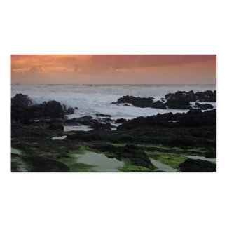 Seascape at sunset business cards