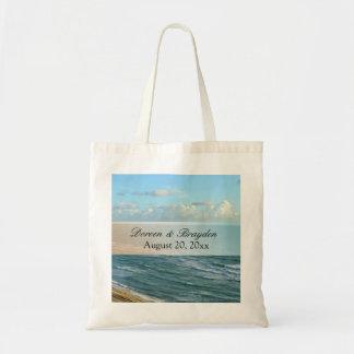 Seascape Blue and Brown Ocean Beach Wedding