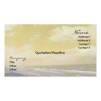 Seascape Golden Business Card