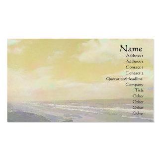 Seascape Golden Business Card Templates