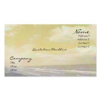 Seascape Golden Business Cards