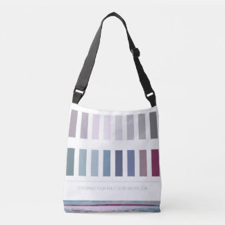 Seascape Interior Design Color Palette Shopping Crossbody Bag