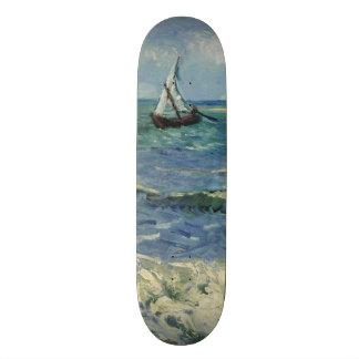 Seascape Les Saintes-Maries-de-la-Mer by Van Gogh Skateboard Deck