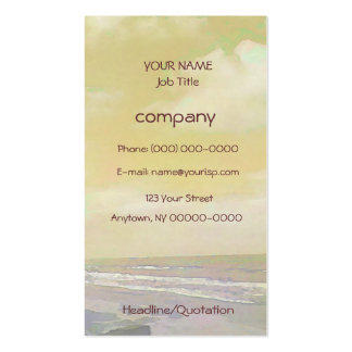 Seascape Light Pack Of Standard Business Cards