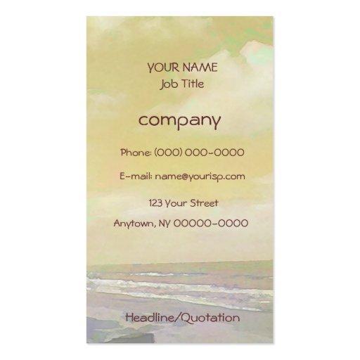 Seascape Light Business Card Templates