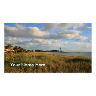 Seascape Lighthouse Business Card Template