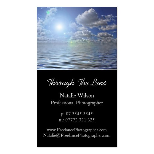 Seascape Photo, Pro Photography - Business Card