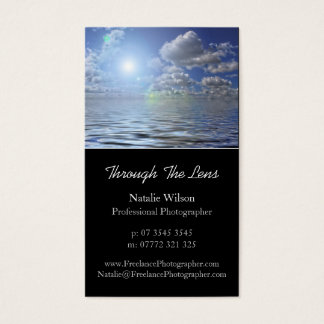 Seascape Photo, Pro Photography - Business Card