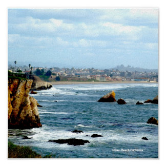 SEASCAPE, Pismo Beach California Poster