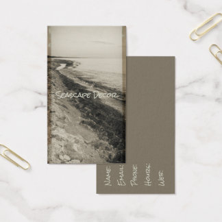 Seascape Shoreline Vintage Ocean View Sea Beach Business Card