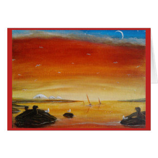 Seascape Sunsets notecards with Mt.Baker. Custom Card