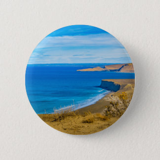 Seascape View from Punta del Marquez Viewpoint 6 Cm Round Badge