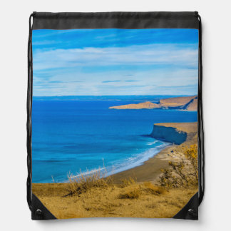 Seascape View from Punta del Marquez Viewpoint Drawstring Bag