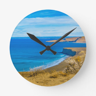 Seascape View from Punta del Marquez Viewpoint Round Clock