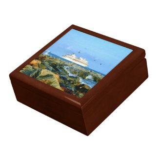 Seascape with Cruise Ship Gift Box