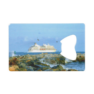 Seascape with Luxury Cruise Ship