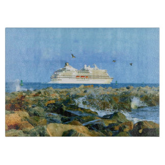 Seascape with Luxury Cruise Ship Cutting Board