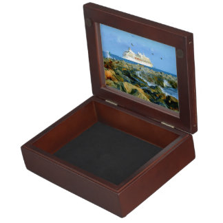 Seascape with Luxury Cruise Ship Keepsake Box