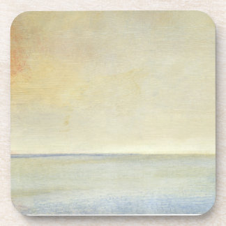 Seascape with Tranquil Orange Sunset Coaster