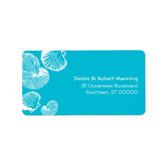 Seashell Beach Address Label