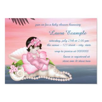 Seashell Beach Baby Shower 13 Cm X 18 Cm Invitation Card
