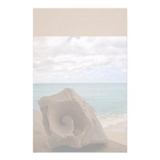 Seashell Beach Paradise Stationery