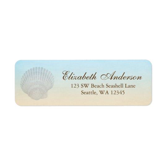 Seashell Beach Personalised Address Label