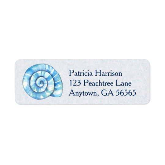 Seashell Beach Return Address Label